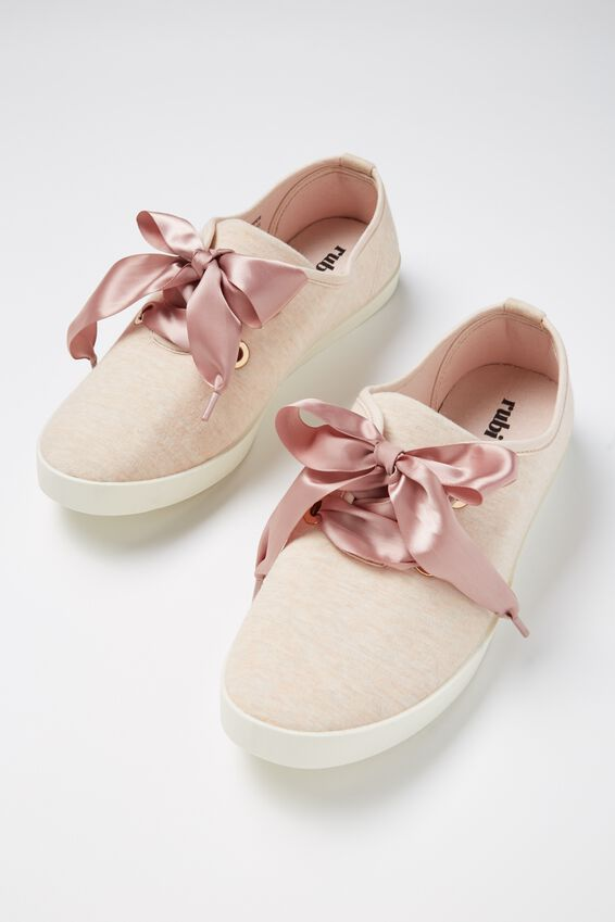Indy Bow Plimsoll, NUDE MARLE