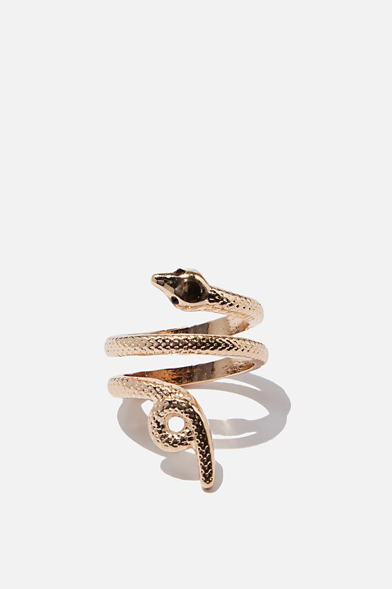 Luxe Layers Snake Ring, GOLD