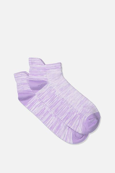 Mesh Ankle Tab Sock, LILAC BREEZE SPACE DYE