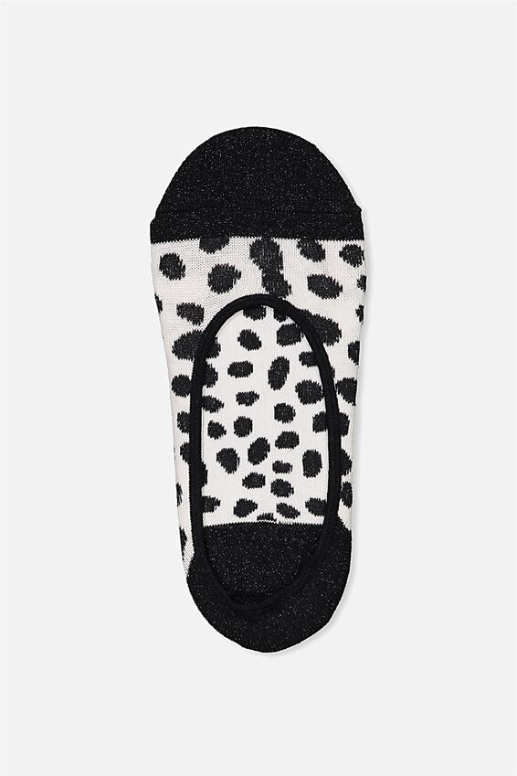 Sneaker Low Cut Sock, PINK ANIMAL/BLACK SPARKLE