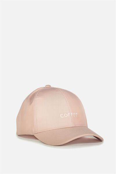 Nancy Cap, DUSTY ROSE/COFFEE TILL COCKTAILS