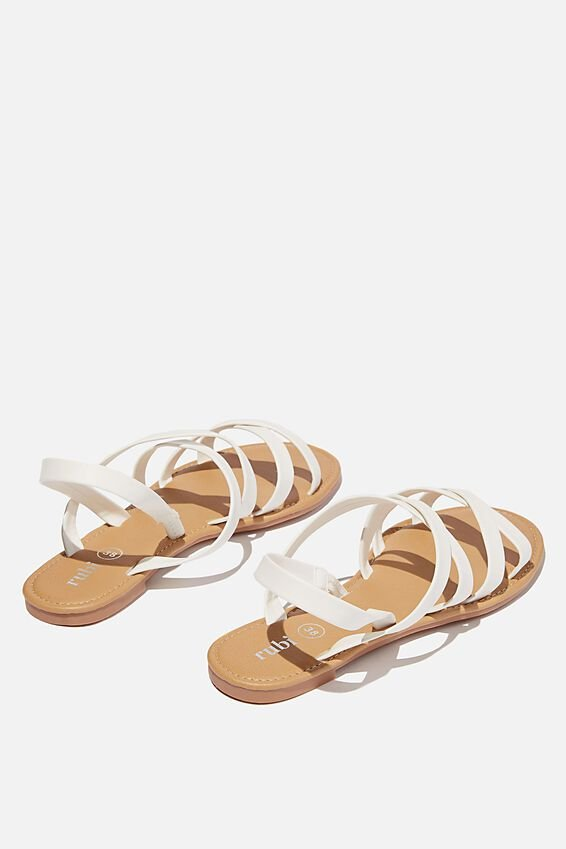 Lucy Strappy Slingback Sandal, WHITE PU