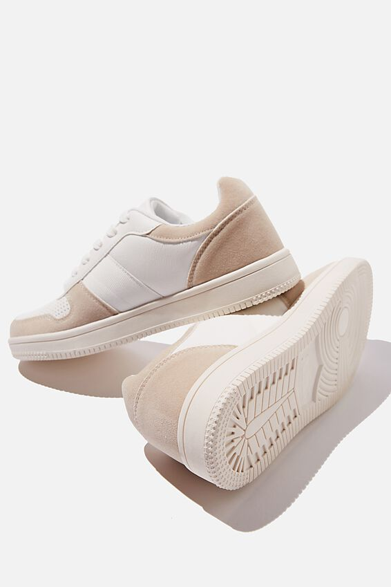 Alba Retro Low Rise, WHITE TAUPE