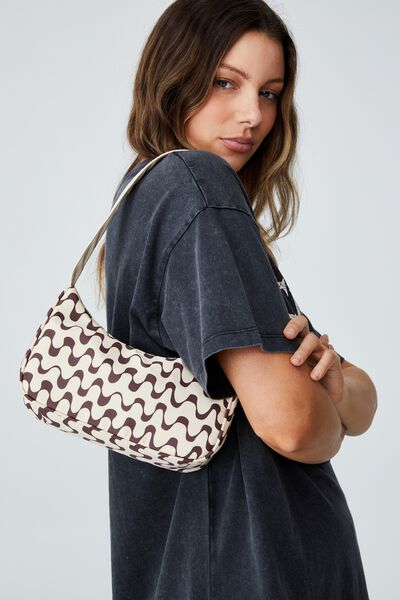 Nadia Underarm Bag, CHOCOLATE WAVE