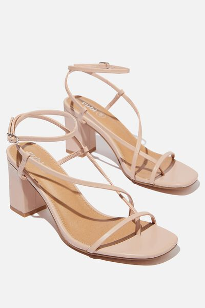 Harper Strappy Heel, PALE TAUPE