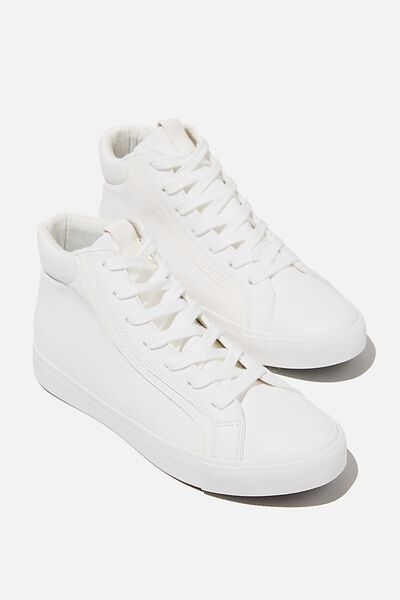 Emmy High Top Sneaker, WHITE