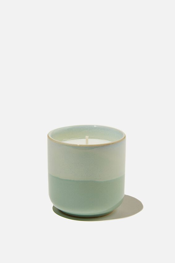 Oasis Candle, LIGHT BLUE GLAZE