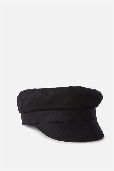 Baker Boy Cap, BLACK