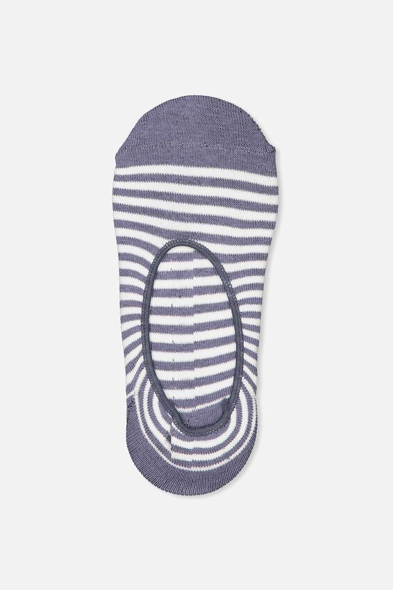 Invisible Sock, STORM BLUE MINI STRIPE