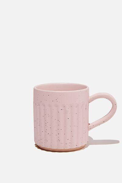 Etched Mug, PINK SPECKLE