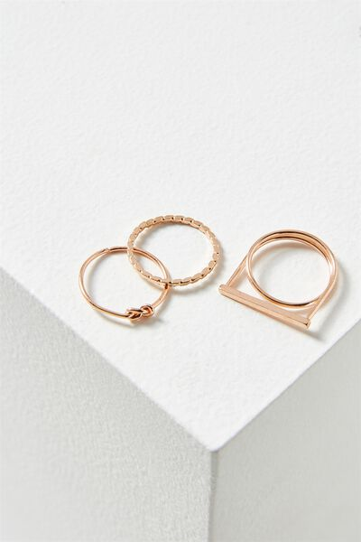 Harper Ring Set, ROSE GOLD