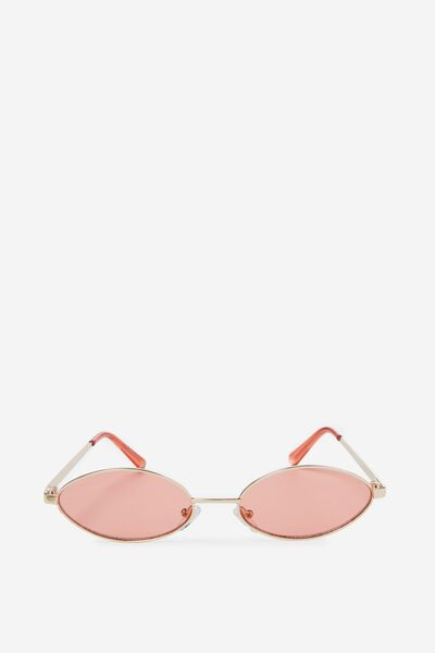 Becky Sunglasses, GOLD/RED