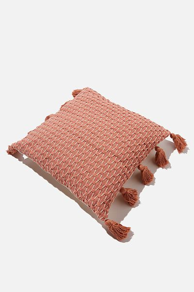 Tassel Cushion, RUST