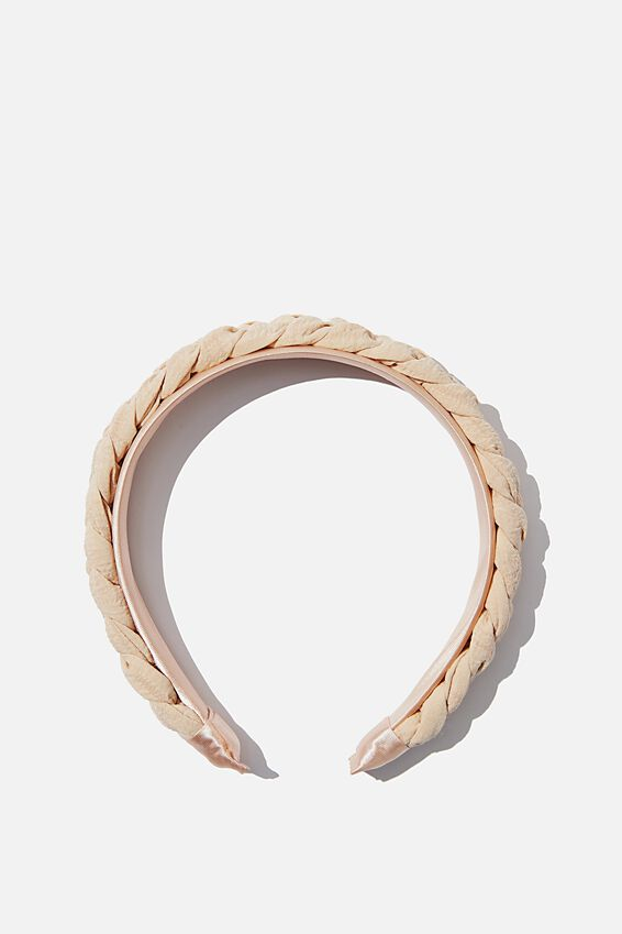 Maddi Plait Headband, NEUTRAL