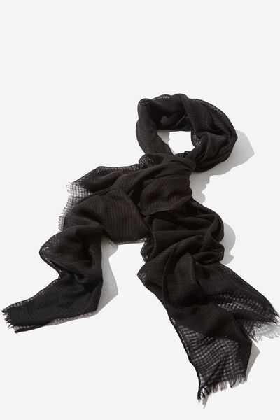 Lily Light Weight Scarf, BLACK