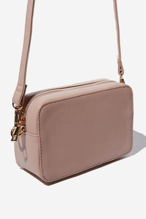 Stevie Boxy Cross Body Bag, NEW BLUSH