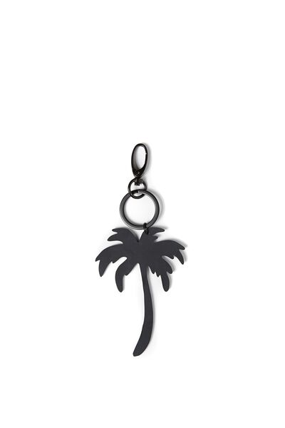 Palm Tree Keyring, BLACK/BLACK