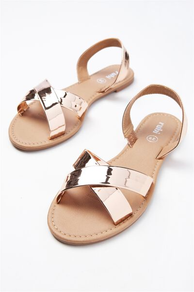 Everyday Banting Crossover Sandal, ROSE GOLD