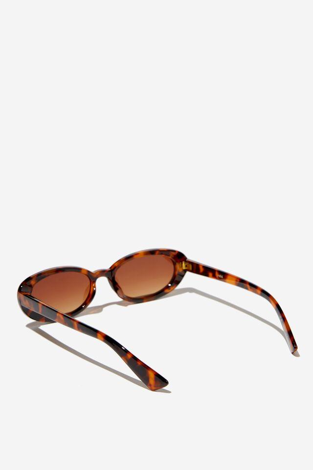 Ophelia Oval Sunglasses, TORT