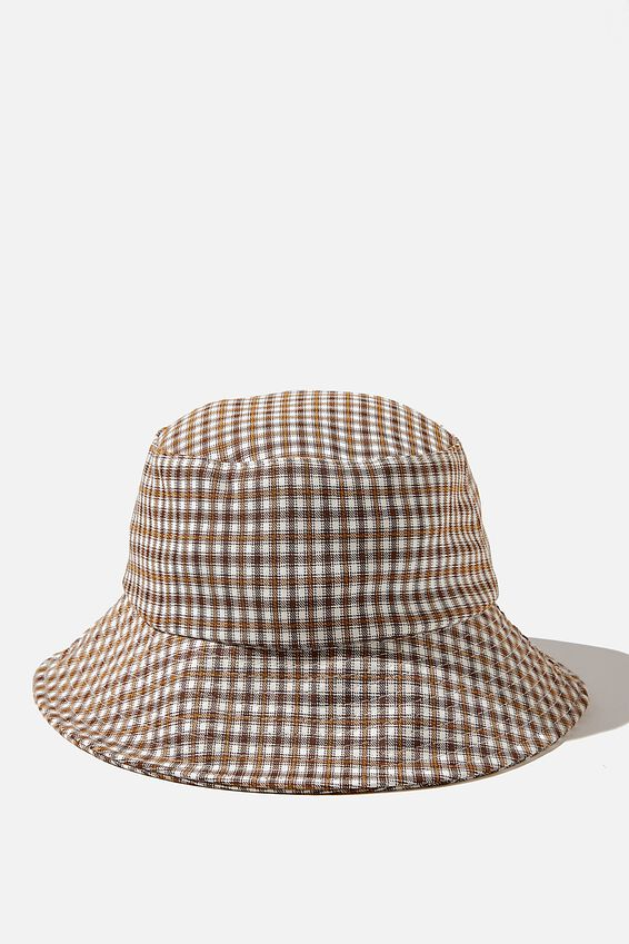 Bianca Bucket Hat, NEUTRAL CHECK