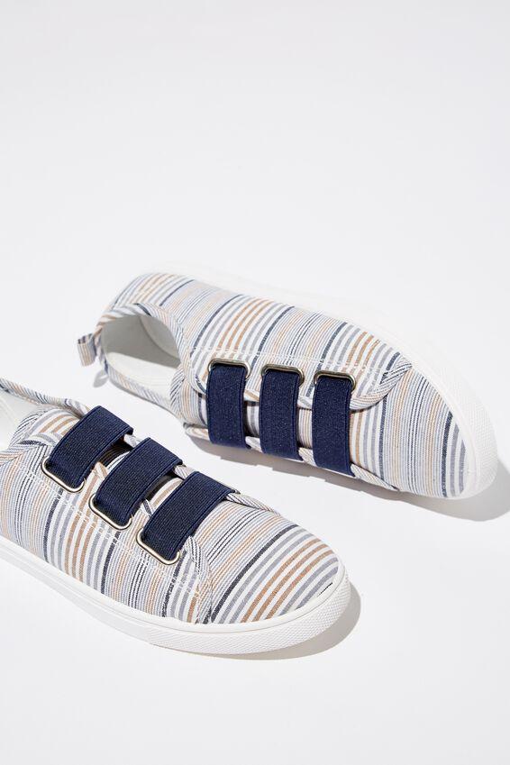 Olsen Elastic Slip On, BLUE MULTI STRIPE