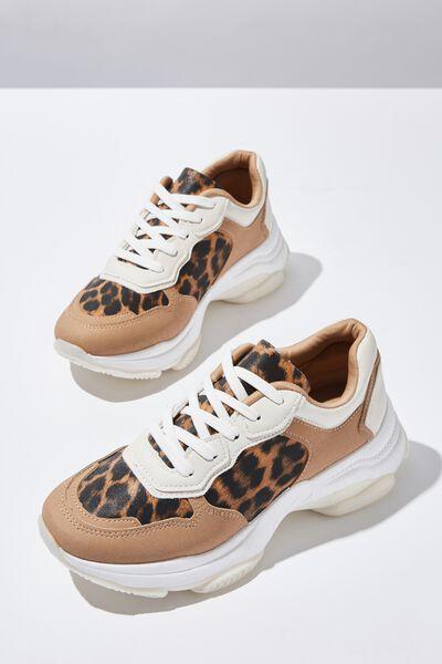Monica Sleek Chunky Sneaker, LEOPARD MULTI