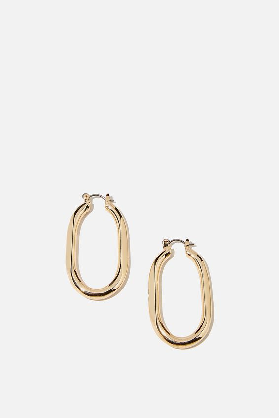 Luxe Layers Hoop, GOLD OBLONG
