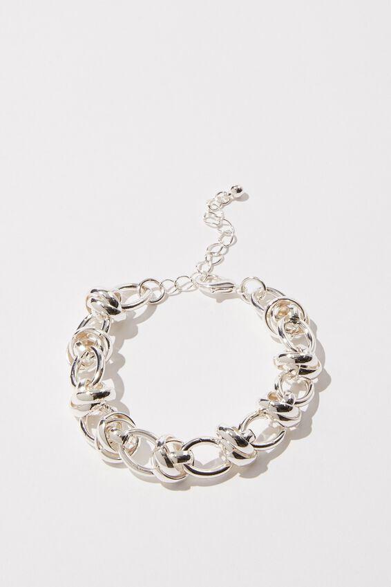 Luxe Layers Freya Twist Bracelet, SILVER