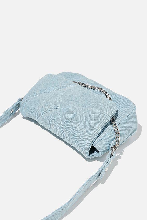 Hannah Quilted Cross Body Bag, BURLEIGH BLUE DENIM