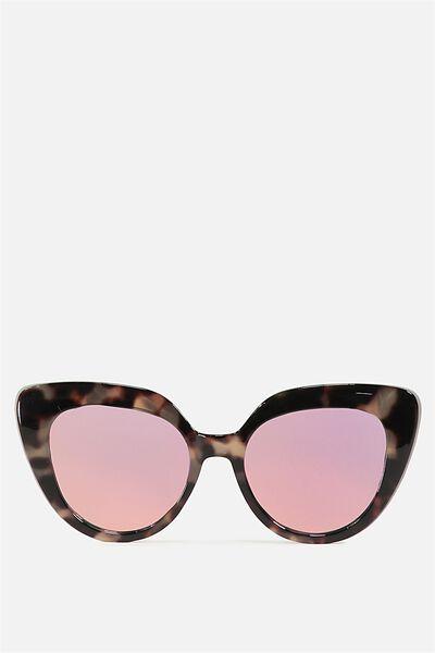 Violet Cateye Sunglasses, MILKY SAND