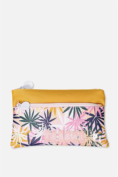 Personalised Dual Zip Cosmetic Case, FROND FRENZY