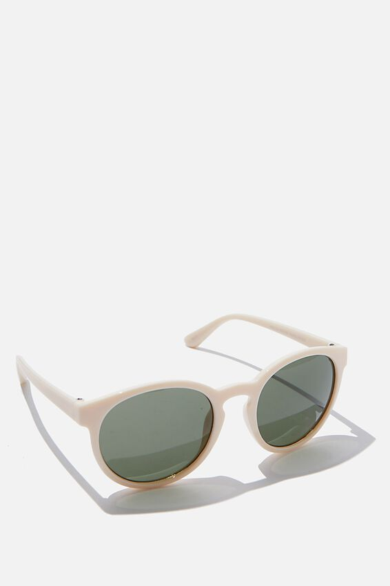 Rollin Round Sunglasses, MILKY CLEAR