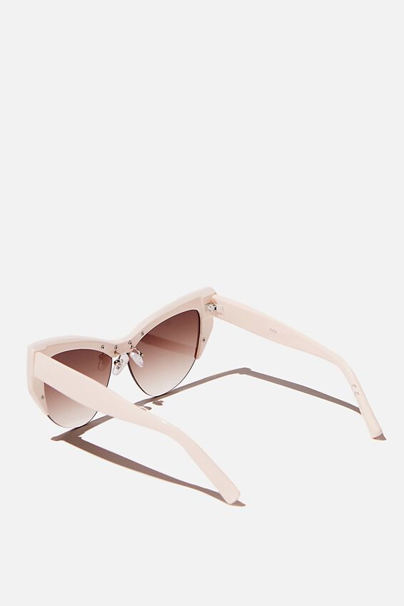 Ash Sports Cateye Limited Edition Sunglasses, MILKY WHITE