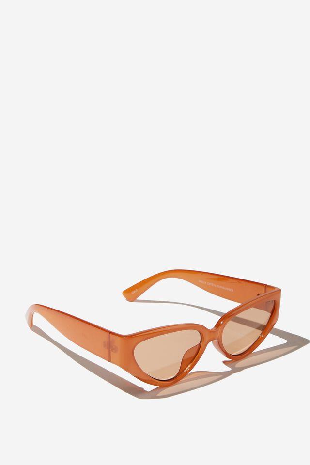 Molly Cateye Sunglasses, BRONZED BROWN