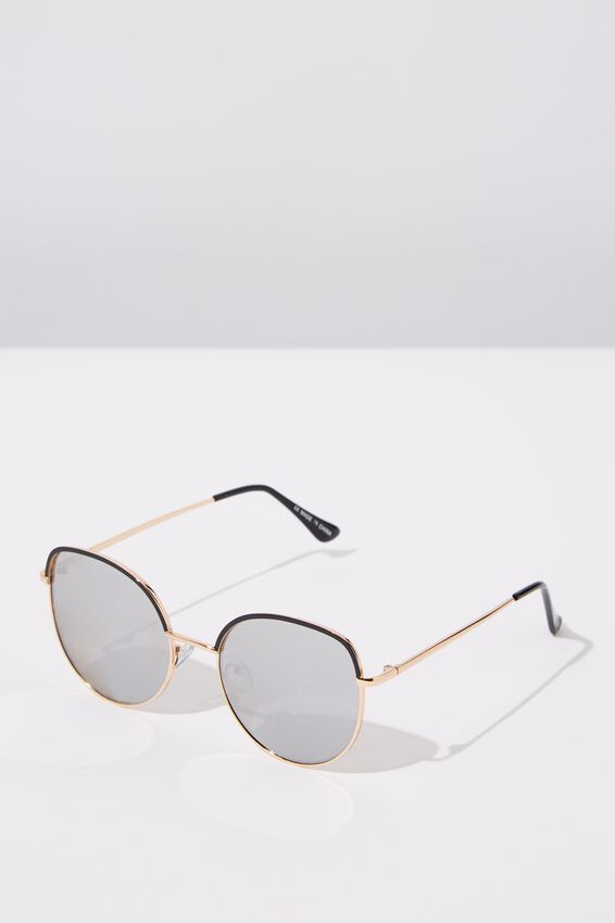 Jazz Top Arch Sunglasses, BLACK S.GOLD