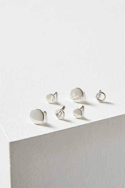 Aish Core Stud Pack, SILVER