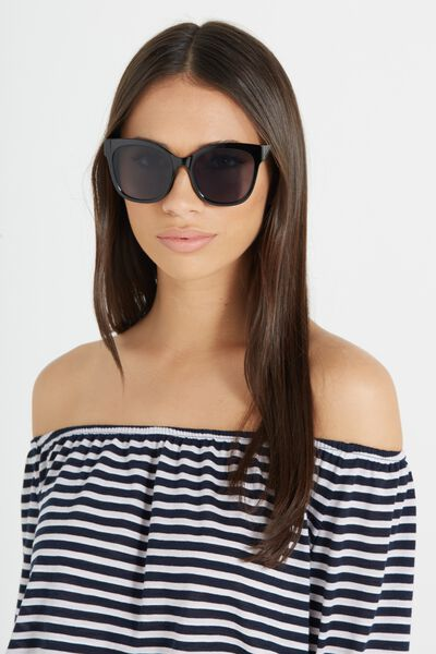 Nicole Full Frame Sunglasses, BLACK/SMOKE