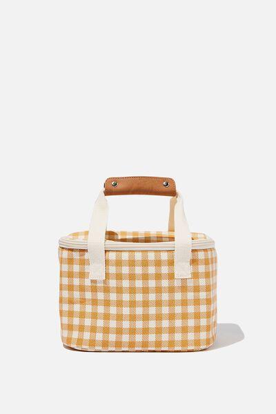 Cooler Bag, MUSTARD CHECK