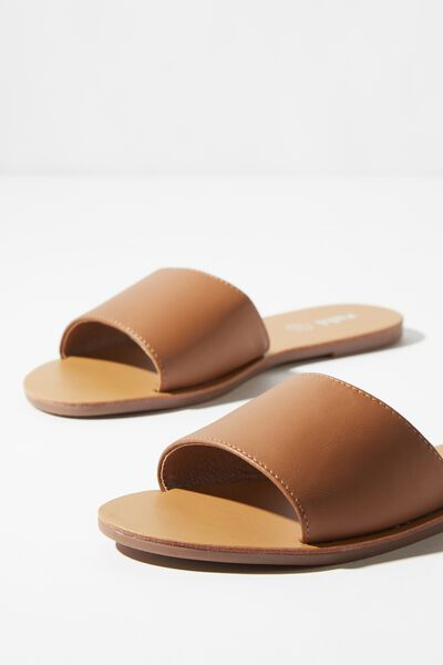 Carrie Minimal Slide, TAN PU