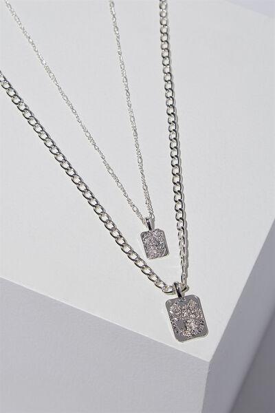 Tunisia Necklace, SILVER