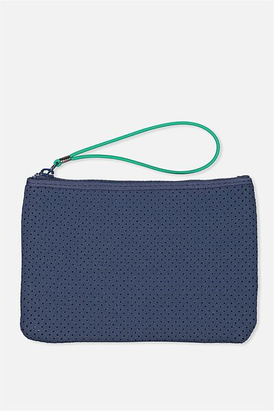 Active Perforated Clutch, NAVY