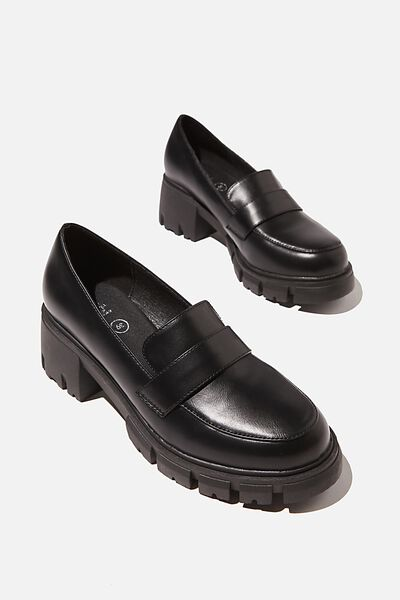 Kiki Chunky Loafer, BLACK PU