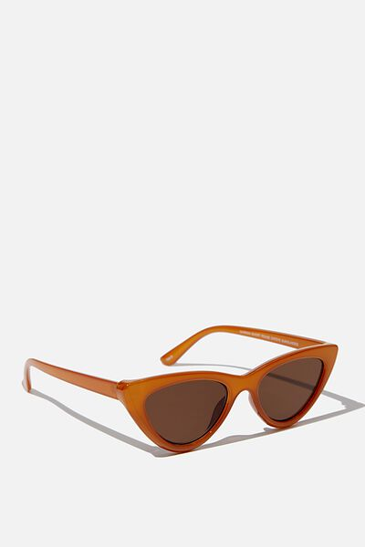 Narrah Short Frame Cateye Sunglasses, MILKY MUSTARD
