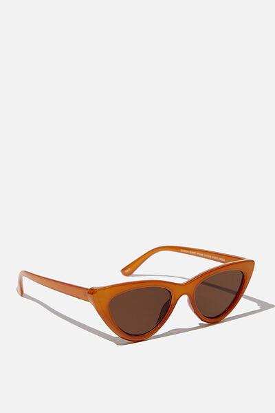 Narrah Short Frame Cateye Sunglasses, MILKY MUSTARD
