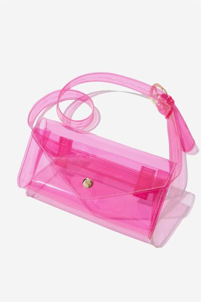 Transparent Belt Bag, PINK