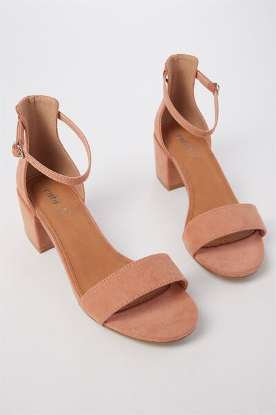 Ivy Low Block Heel, FUDGE MICRO