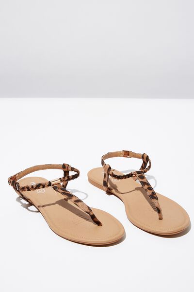 Everyday Braided Toe Post Sandal, ANIMAL MICRO