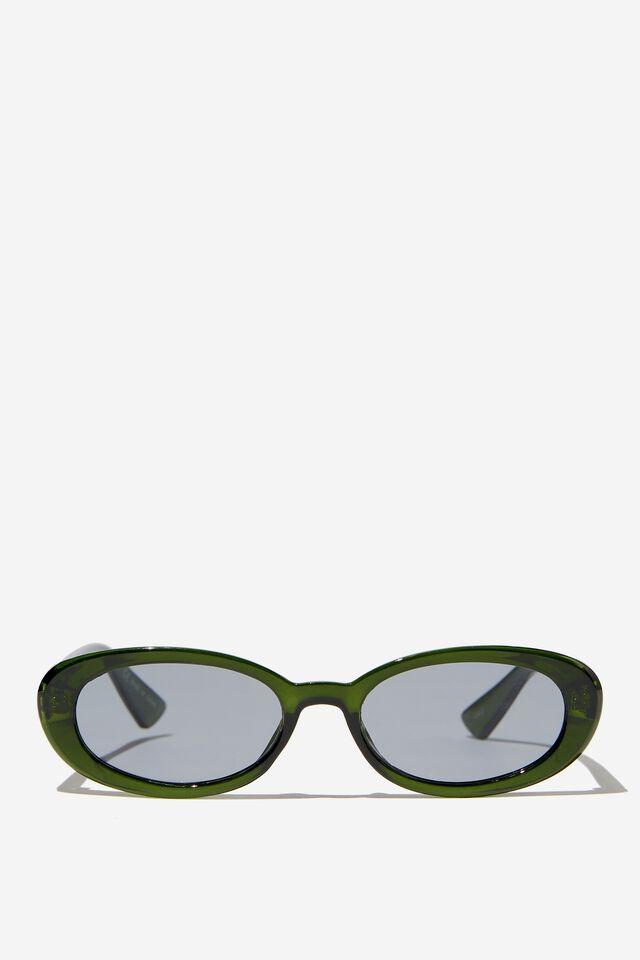 Ophelia Oval Sunglasses, BOTTLE GREEN