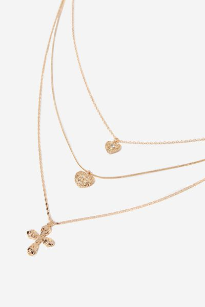 Lily Baroque Necklace, GOLD