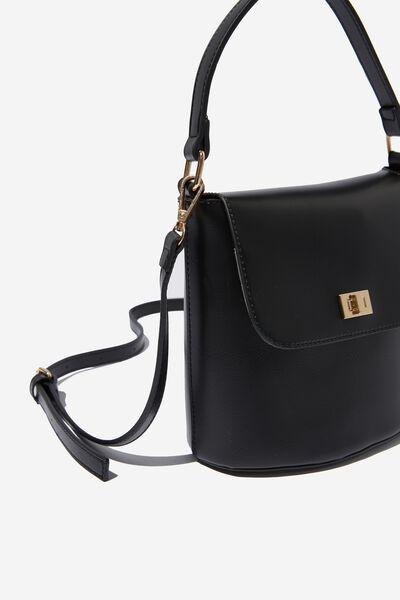 Harper Hand Bag, BLACK